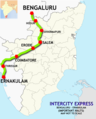 (Bangalore – Ernakulam) Intercity Express route map.png