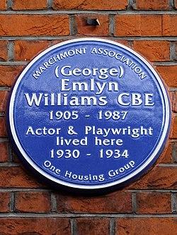 (george) emlyn williams cbe (marchmont association)