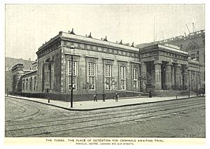 The Tombs - The original ancient Egyptian style Tombs building (1893 photo)