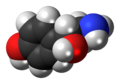 (R)-Octopamine molecule spacefill.png