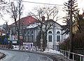 Černošice, Vrážská, hotel Slánka, od Komenského.jpg
