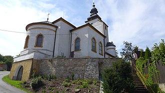 Červená Lhota (Třebíč District) - Image: Červená Lhota kostel sv. Vavřince