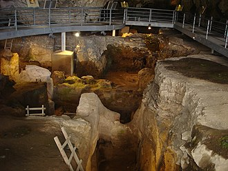 Theopetra cave - The interior of the cave