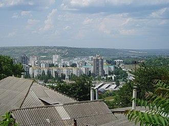 Rîbnița - Rîbnița's skyline as view from over the Dniester river