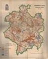 Глебавая мапа Гарадзенскай губэрні (1883) Grodno Governorate terrain map.jpg