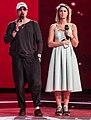 Дмитрий Нагиев и Агата Муцениеце на репетиции на финале Голос. Дети 5 (cropped).jpg