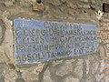 Замок Паланок. Мукачеве. Старовинний надпис у дворі.JPG