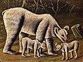 Нико (Николай Асланович) Пиросмани (1862-1918) Белая медведица с медвежатами 1910-е.jpg