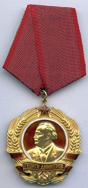 Order of Georgi Dimitrov cover