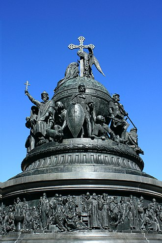 Nationalism - The Millennium of Russia monument built in 1862 to celebrate one-thousand years of Russian history.