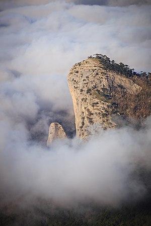 Mount Shaan-Kaya in Clouds