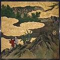 琴棋書画図襖の内-Appreciation of Painting, from a set of the Four Accomplishments MET DT6107.jpg