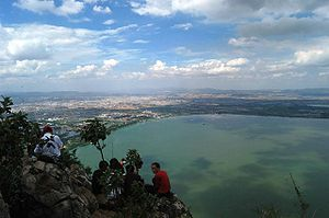 Xishan District, Kunming - On top of Xishan looking into Dian Lake