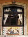 019 Can Solé (Barcelona), detall de la façana del c. Sant Carles 4.jpg