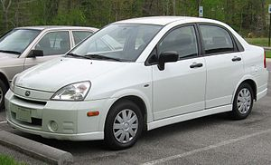 2002-2004 Suzuki Aerio photographed in USA. Ca...