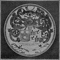 0266 Blue and white plate with the coats of arms of Van Bleyswijck and Van Hemert.jpg