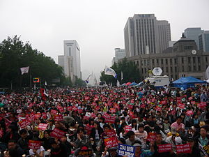 080606 ROK Protest Against US Beef Agreement 04.jpg