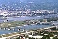 090R25310782 Donauturm, Entlastungsgerinne in Bau, Blick Brigittenau, Nordbahnbrücke, Floridsdorferbrücke, Nordbrücke.jpg