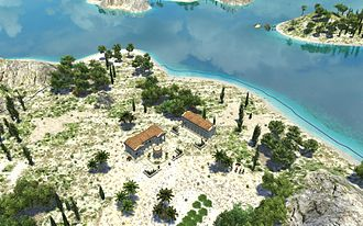 0 A.D. (video game) - Screenshot of Cycladic Archipelago island map