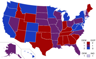 United States Senate elections, 2010 - Senate composition as a result of the 2010 elections.