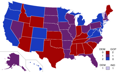 2010 United States Senate Elections Wikipedia - Us-congress-election-map