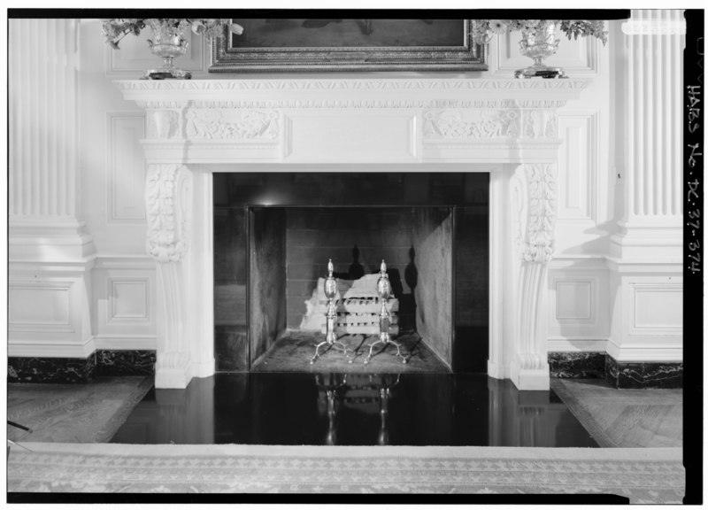 File 118 state dining room elevation of fireplace white for Dining room elevation