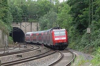Eschweiler Hauptbahnhof - Ichenberg Tunnel with Regional-Express (track 1)