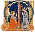 14th-century painters - The Annunciation in an Initial M - WGA15972.jpg