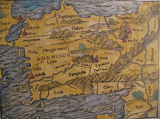 Galatia - Part of a 15th-century map showing Galatia.