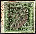 1853 3kr Baden 115 red Rastatt Mi6.jpg