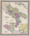 1853 Mitchell Map of Southern Italy ( Naples, Sicily ) - Geographicus - ItalySouth-mitchell-1850.jpg