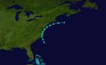 1856 Atlantika tropika ŝtormo 3 track.png