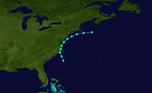 1856 Atlantic hurricane season - Image: 1856 Atlantic tropical storm 3 track