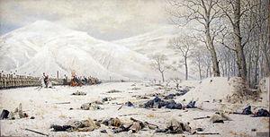 Mikhail Skobelev - Skobelev in the battle of Shipka, Vasili Vereshchagin, 1883