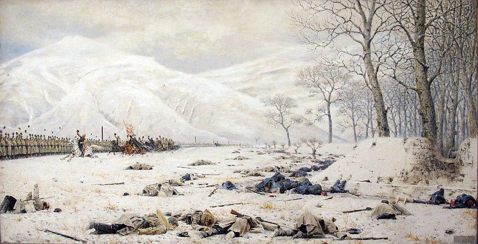 1878 Vereshchagin Schlachtfeld am Schipkapass anagoria