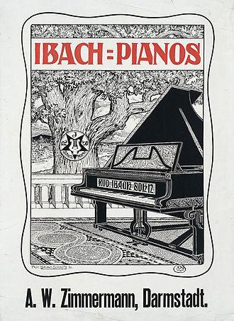 "Bruno Schmitz - Poster ""Ibach-Pianos"", 1898 by Bruno Schmitz"