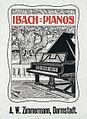 1898 circa Prof. Bruno Schmitz Plakat Ibach-Pianos, Rud. Ibach Sohn, Graphische Kunstanstalt Hyll & Klein, Wuppertal-Barmen.jpg