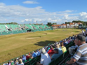 Muirfield - Image: 18th Hole at Muirfield, The Open 2013