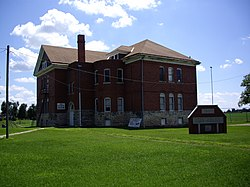 Burns Union School, now Community Museum, in 2010.