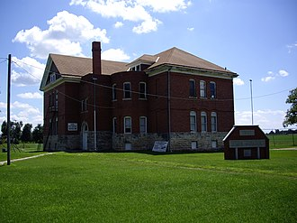 Burns, Kansas - Burns Union School, now Burns Community Museum (2010)