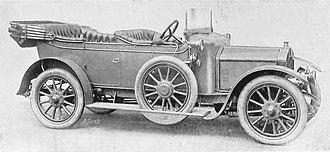 Rover 12 - 4-seater standard flush-sided open tourer body 1911