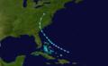 1927 Atlantic tropical storm 5 track.png