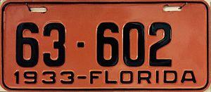 Vehicle registration plates of Florida