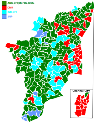 Tamil Nadu Legislative Assembly election, 1977 - Image: 1977 tamil nadu legislative election map