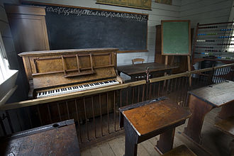 Educational technology - 19th century classroom, Auckland