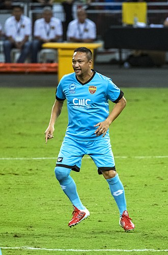 Fandi Ahmad - Fandi playing in a friendly in 2017