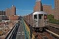 1 subway train (R62A) arriving to 125th St station, Manhattan.jpg