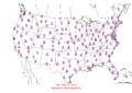 2006-02-08 Max-min Temperature Map NOAA.png