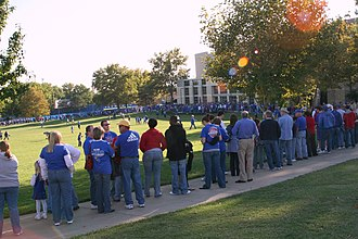 Midnight Madness (basketball) - Kansas Jayhawks men's basketball fans wait to attend Late Night in the Phog.