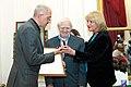 2010 Likhachev Foundation Prize ceremony - Rustam Rakhmatullin, Daniil Granin and Alla Manilova.jpg
